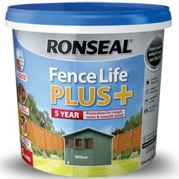 Ronseal Fence Life Plus - suitable for use on sawn or planed timbers