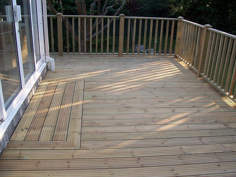 32mm trade tanalised deckboards dual profile devon and for Tanalised decking boards