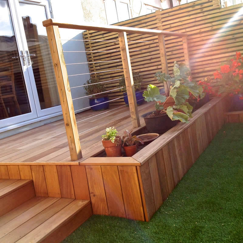 Yellow balau deckboards smooth smooth hardwood decking for Smooth hardwood decking boards