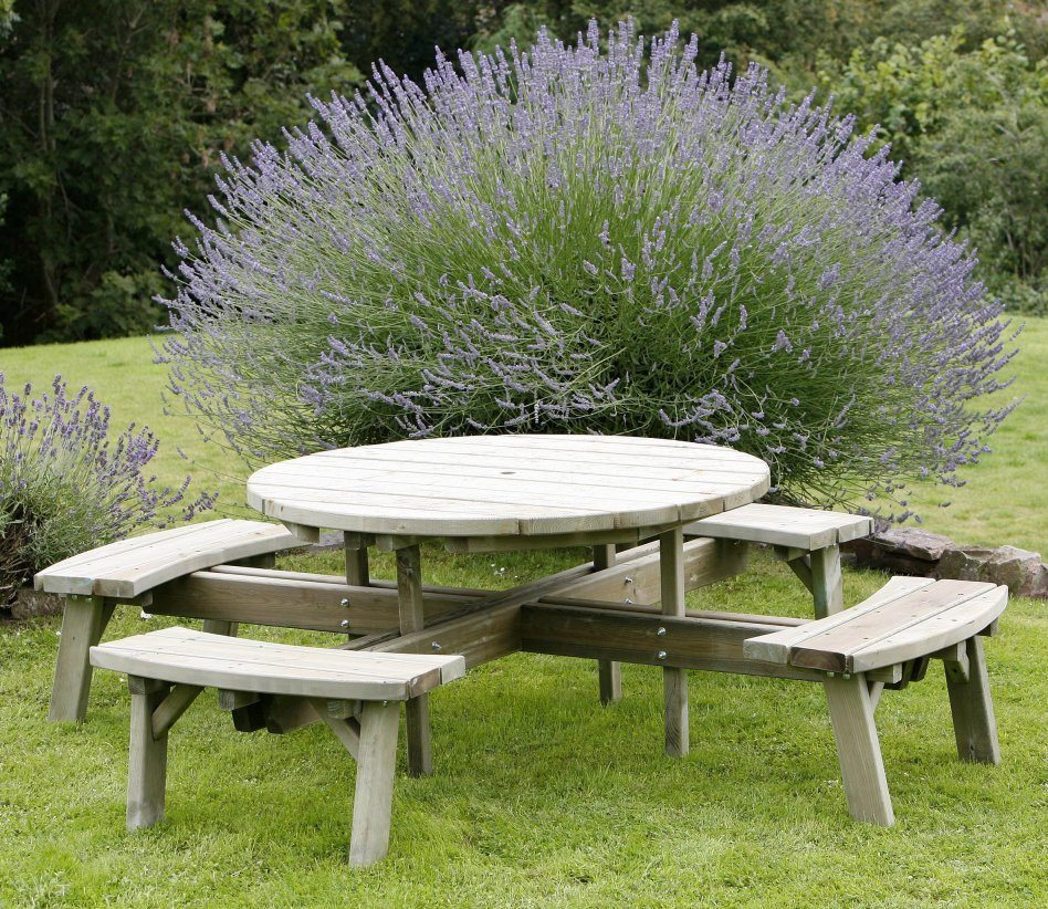 Large HD Circular Picnic Table Huttons Furniture Devon - Large round picnic table