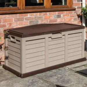 Plastic Box Bench in Mocha and Coffee