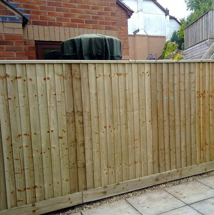 feather edge boards garden fencing devon and cornwall. Black Bedroom Furniture Sets. Home Design Ideas