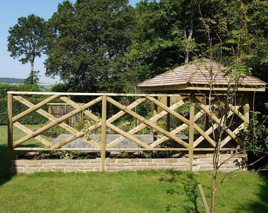 Half round rails mm tanalised landscaping devon and