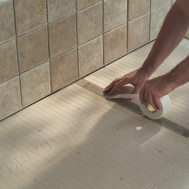 Hardie backer installation southern timber for Drywall or cement board for shower