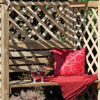 Rowlinson Jaipur Arbour Pressure Treated Wooden Double Seat