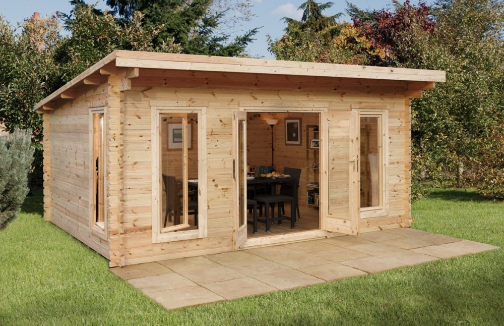 Luxury Log Cabin Office : Forest mendip double glazed log cabin office free delivery