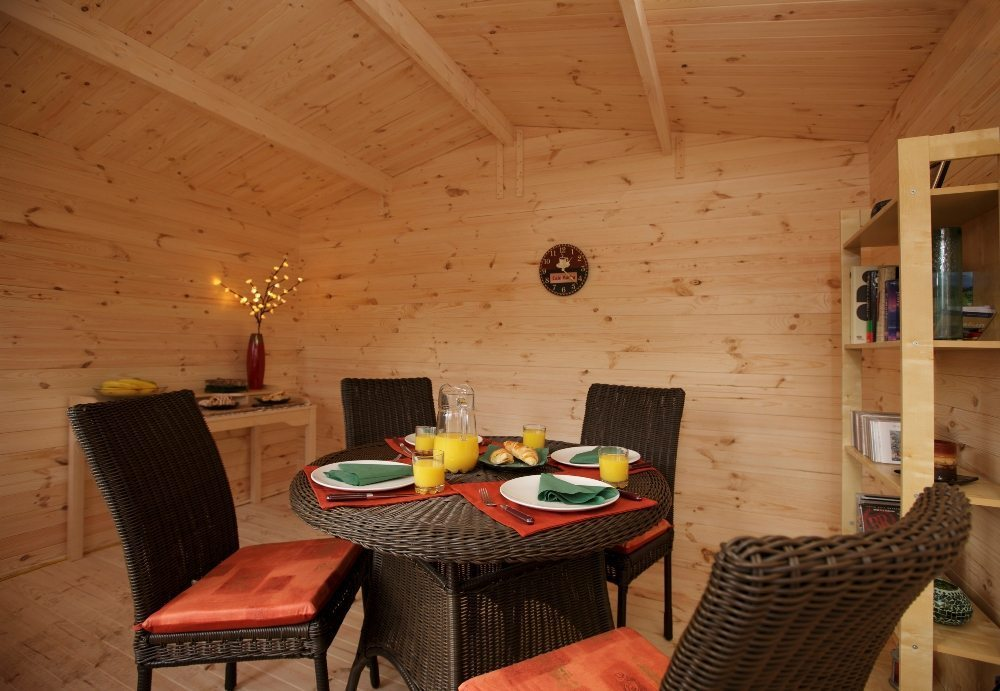 Luxury Log Cabin Office : Forest garden log cabins nevis timber building free