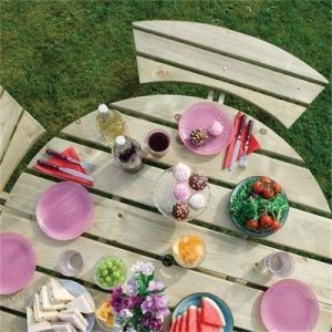 Round Picnic Table by Rowlinsons