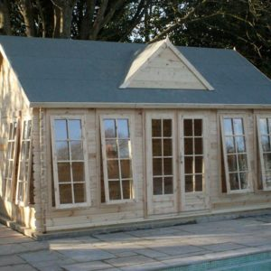 Pool House Cabin 5.5m x 4m 44mm DG Log Cabin