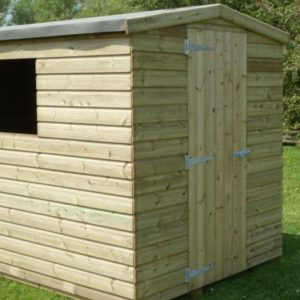 Images shows Premier Tanalised Apex Shed,10 x 8 Tanalised Apex