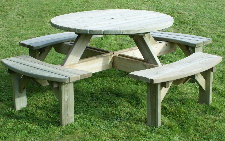 Rowlinson Round Picnic Table Off 53, Rowlinson Round Picnic Table