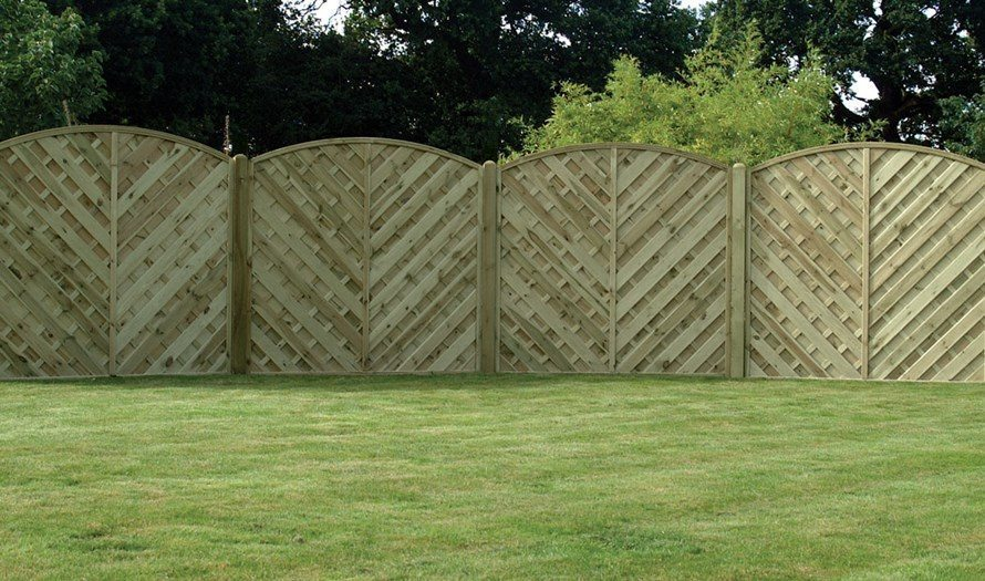 V Arched Fence Panel Privacy Panel Devon And Cornwall