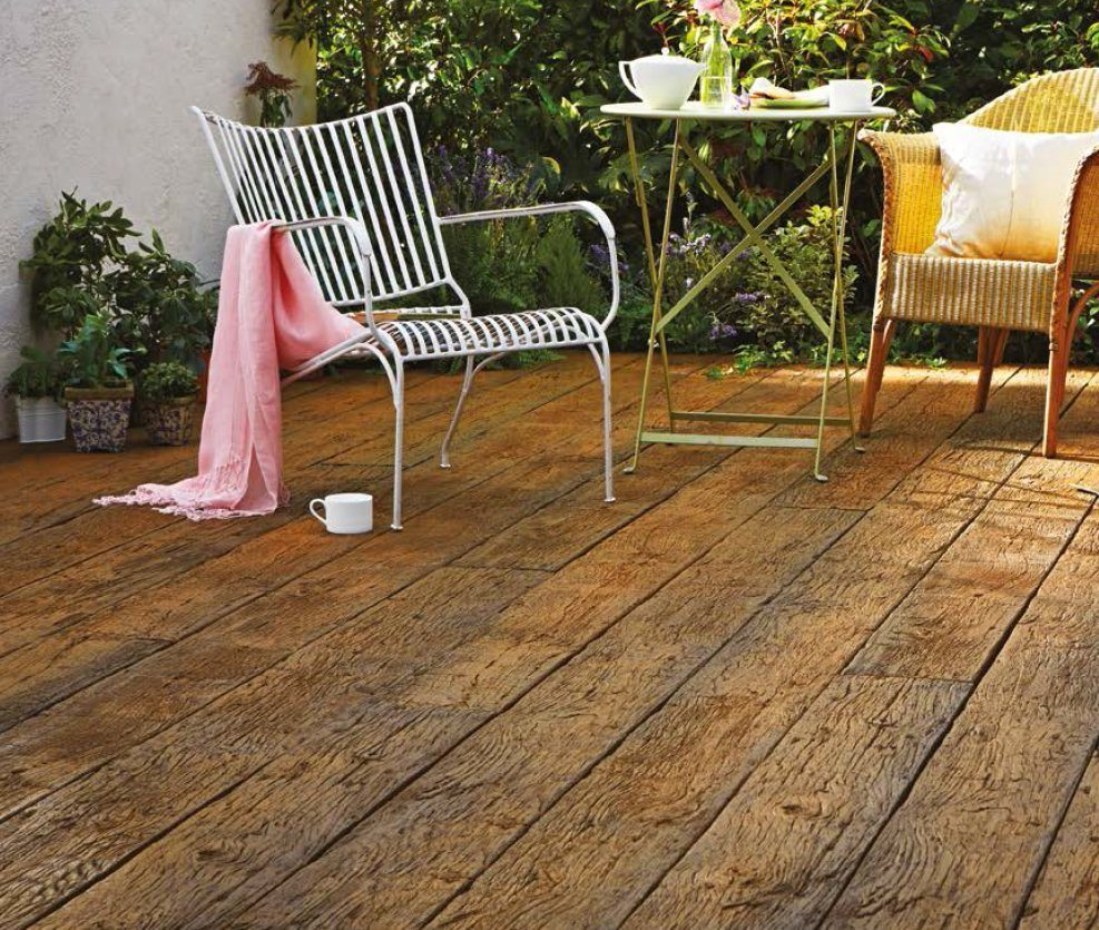 Millboard weathered deckboard traditional style deck devon for Timber decking thickness