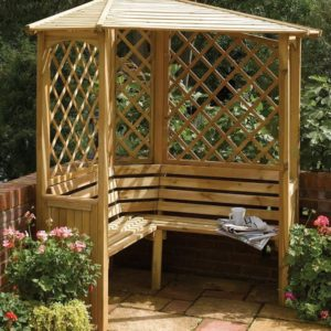 Balmoral Arbour for the corner of your garden