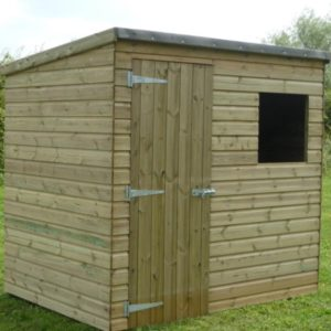 Tanalised pent Shed in standard 7x5 size
