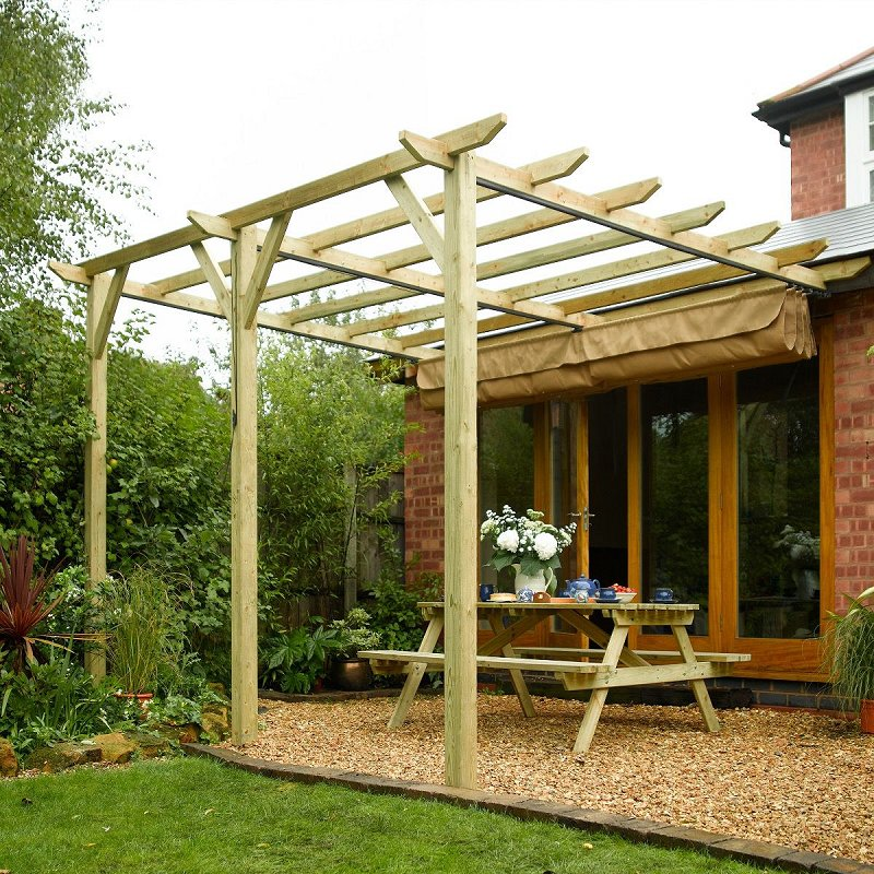 Sienna Timber Canopy Wall Mounted Canopy Free Uk Delivery
