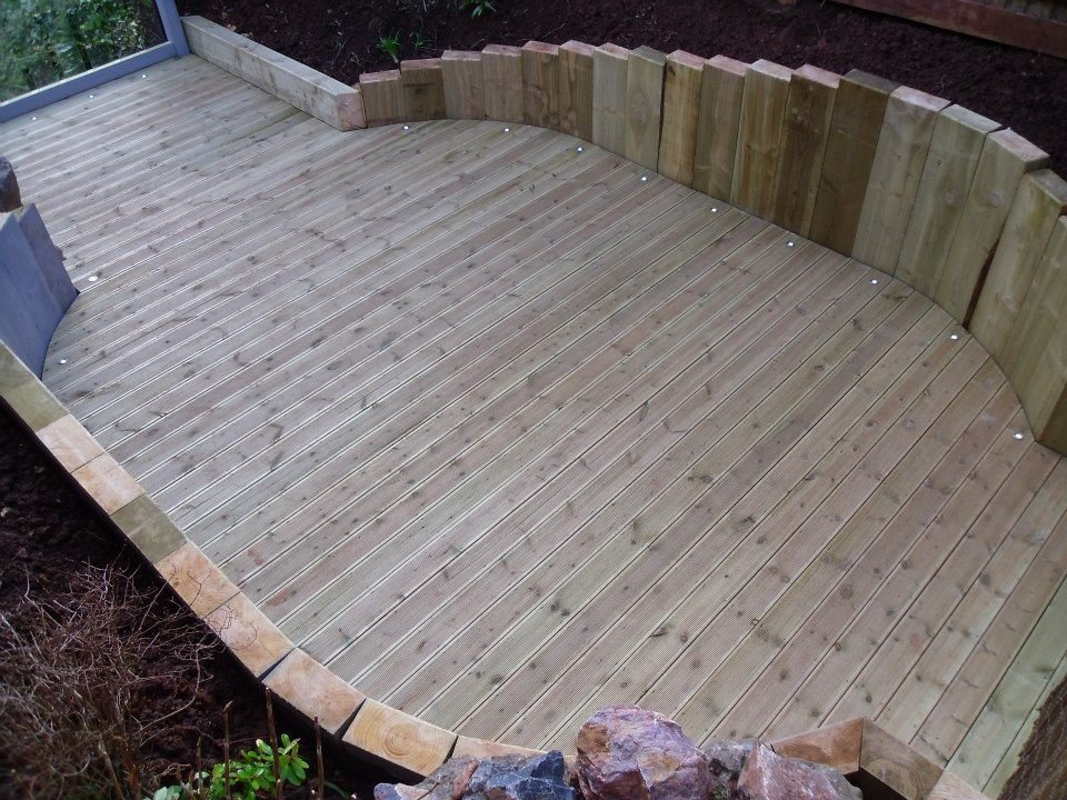 38mm trade tanalised deckboards dual profile devon and for Tanalised decking boards
