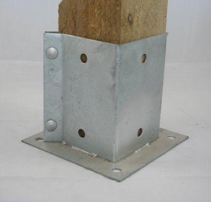 "GALVANISED BOLT DOWN FENCE POST SUPPORT ANCHOR POST HOLDER 3/"" 4/"" 6/"""