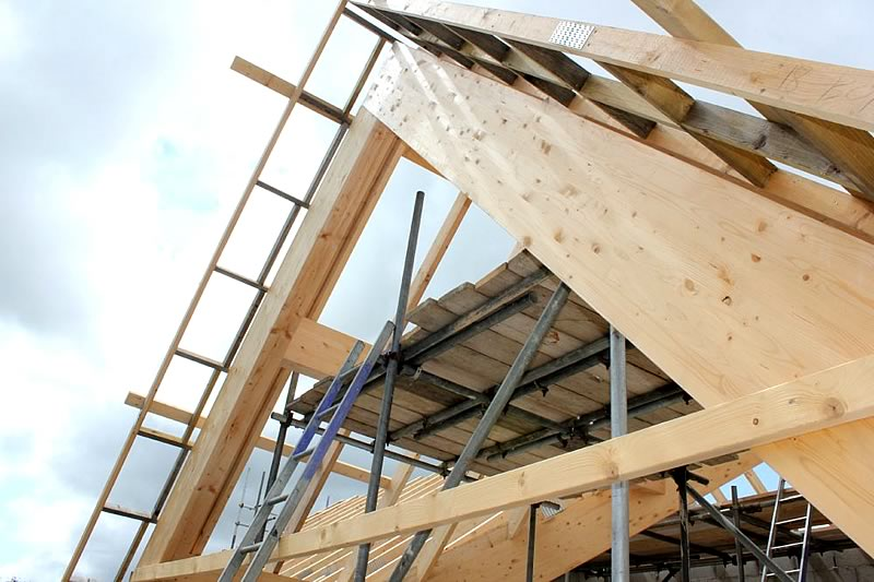 Glulam Laminated Timber Beams Devon And Cornwall Site