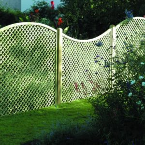 Image shows concave lattice panels adjoining convex to produce pleasant design