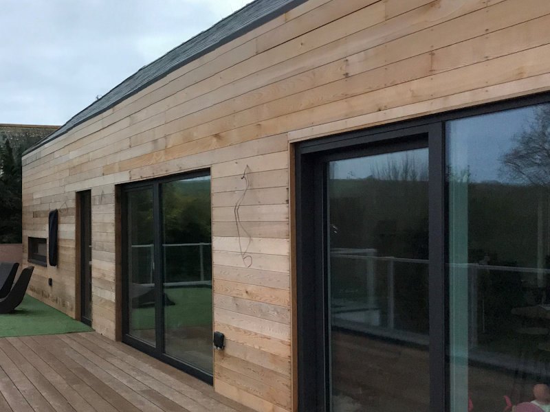 Parallel Chamfered Wester Red Cedar cladding