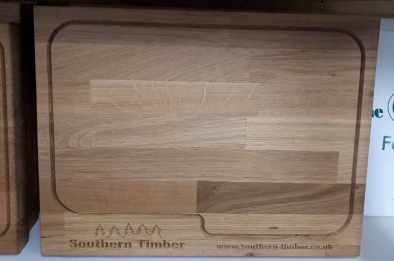 Oak chopping board, approx. 400mm x 300mm