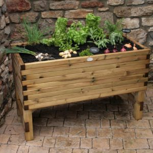 Raised vegetable planter from Huttons Garden Products. Southern Timber deliver these products to Devon and Cornwall