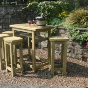 The Cotswold high stool and table dining set