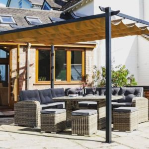 Gardening projects. Venetian Canopy from he rowlinson garden furniture range