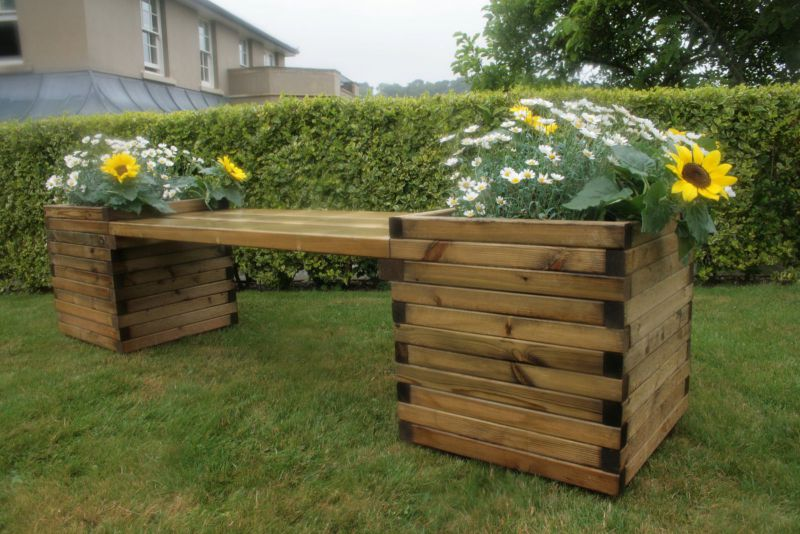 Windermere Planter Bench Quality Timber Devon And Cornwall