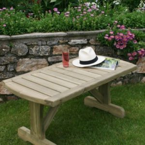 Compact garden table from Huttons Cotswold range