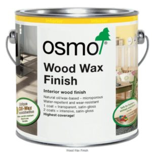 Osmo Wodd Wax Finish 1101 for denser and more oily wood species