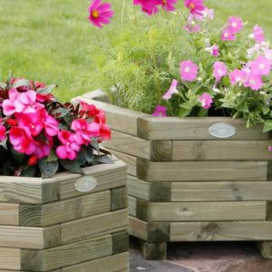 TWO HEXAGONAL PLANTERS FROM THE hUTTONS GARDEN RANGE