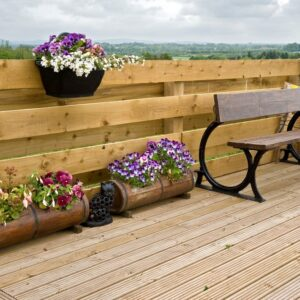 Horizontal face slats can be staggered either side of the fence post to reduce wind-load but keep privacyI
